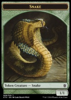 Khans of Tarkir: Snake Token