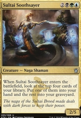Khans of Tarkir Foil: Sultai Soothsayer
