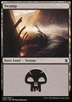 Khans of Tarkir: Swamp (258 A)