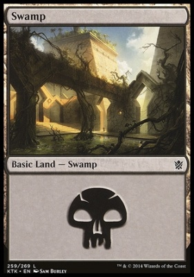 Khans of Tarkir Foil: Swamp (259 B)