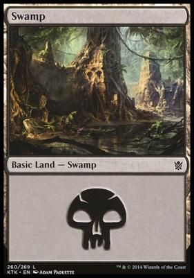 Khans of Tarkir: Swamp (260 C)