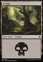 Khans of Tarkir: Swamp (261 D)
