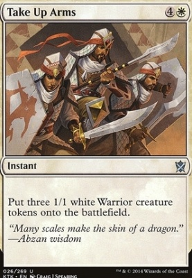 Khans of Tarkir Foil: Take Up Arms