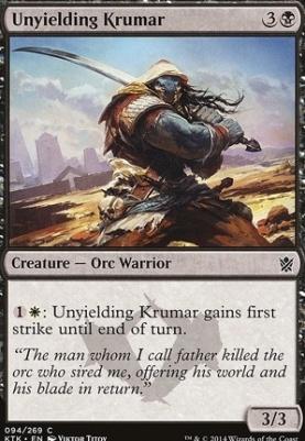 Khans of Tarkir Foil: Unyielding Krumar