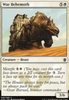 Khans of Tarkir Foil: War Behemoth