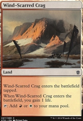 Khans of Tarkir: Wind-Scarred Crag