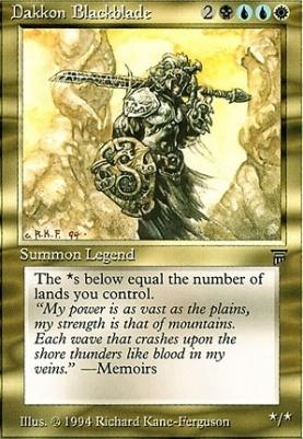 Legends: Dakkon Blackblade