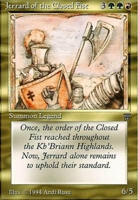 Legends: Jerrard of the Closed Fist