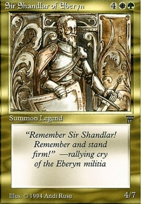 Legends: Sir Shandlar of Eberyn