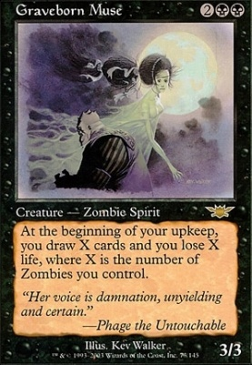 Magic The Gathering Cards Legions Graveborn Muse