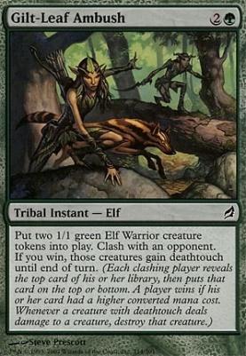Lorwyn Foil: Gilt-Leaf Ambush