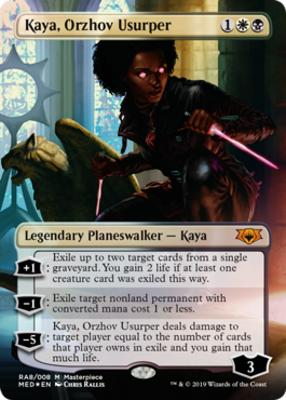 Kaya Orzhov Usurper Masterpiece Series Mythic Edition Card Kingdom This deck can only be played in historic formats. kaya orzhov usurper masterpiece