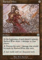 Mercadian Masques Foil: Barbed Wire