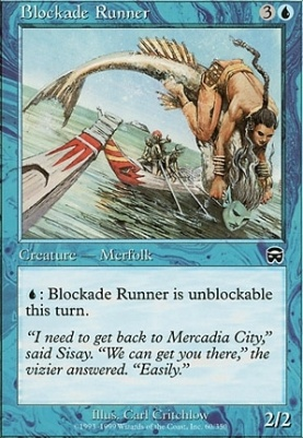 Mercadian Masques Foil: Blockade Runner