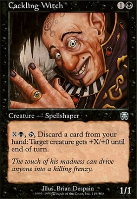 Mercadian Masques Foil: Cackling Witch