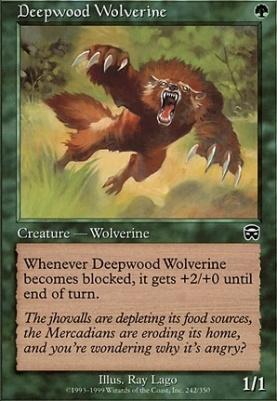 Mercadian Masques Foil: Deepwood Wolverine