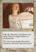 Mercadian Masques Foil: Devout Witness