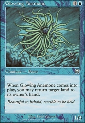 Mercadian Masques Foil: Glowing Anemone