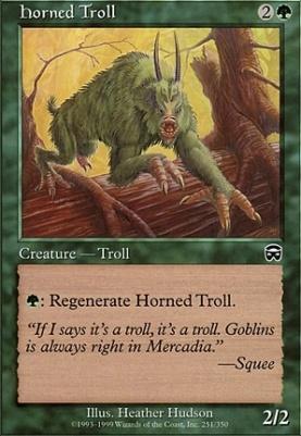 Mercadian Masques: Horned Troll