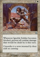 Mercadian Masques Foil: Ignoble Soldier