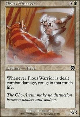 Mercadian Masques Foil: Pious Warrior