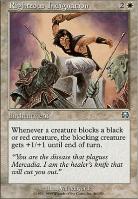 Mercadian Masques Foil: Righteous Indignation