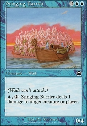 Mercadian Masques: Stinging Barrier