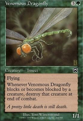 Mercadian Masques Foil: Venomous Dragonfly