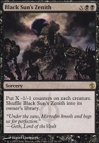Mirrodin Besieged Foil: Black Sun's Zenith
