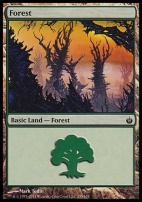 Mirrodin Besieged Foil: Forest (155 B)