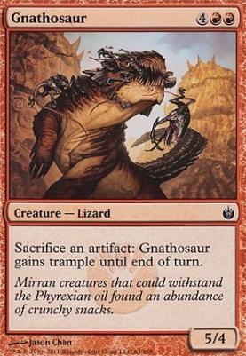 Mirrodin Besieged Foil: Gnathosaur