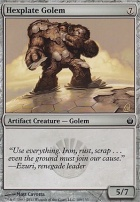 Mirrodin Besieged Foil: Hexplate Golem