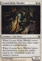 Mirrodin Besieged Foil: Leonin Relic-Warder