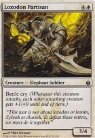 Mirrodin Besieged Foil: Loxodon Partisan