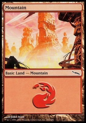Mirrodin: Mountain (302 D)