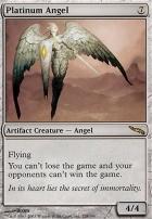 Angel platinum premium//foil vf-French platinum angel-magic-mtg