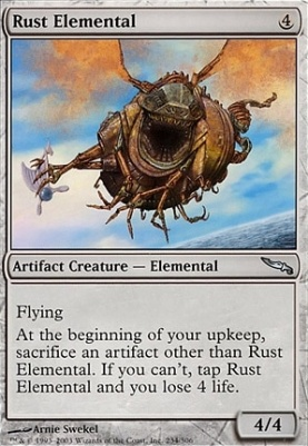 Mirrodin Foil: Rust Elemental