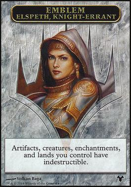Modern Event Deck: Emblem - Soldier Token (Elspeth, Knight-Errant)