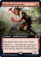 Modern Horizons 2 Variants Foil: Bloodbraid Marauder (Extended Art)