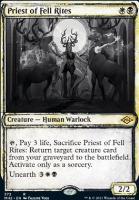 Modern Horizons 2 Variants: Priest of Fell Rites (Showcase)