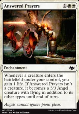 Modern Horizons: Answered Prayers