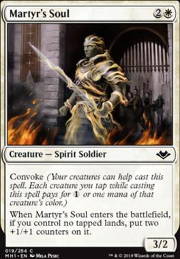 Modern Horizons Foil: Martyr's Soul