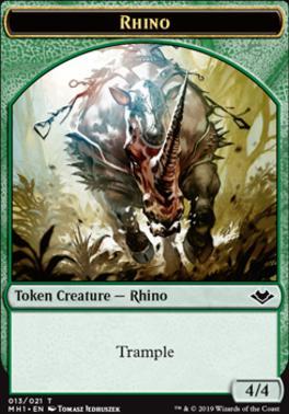 Modern Horizons Foil: Rhino Token