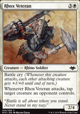 Modern Horizons Foil: Rhox Veteran