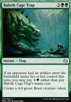 Modern Masters 2017 Foil: Baloth Cage Trap