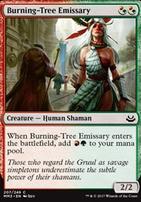 Modern Masters 2017 Foil: Burning-Tree Emissary