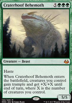 Modern Masters 2017 Foil: Craterhoof Behemoth