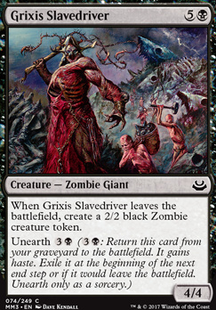 Modern Masters 2017 Foil: Grixis Slavedriver