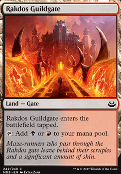 Modern Masters 2017 Foil: Rakdos Guildgate
