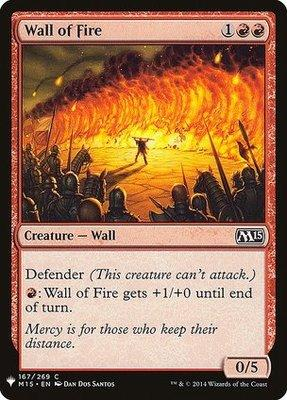 Mystery Booster/The List: Wall of Fire